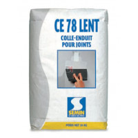 Enduit joint lent pour traitement des joints plâtre CE 78 24 h - 25 kg (0.66kgm²) CE7824 de Semin