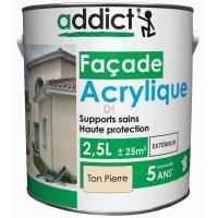 ADDICT Façade acrylique 2,5L ton pierre DELZ-ADD-51500712TNPR de ADDICT
