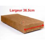 Panneau fibre de bois STEICO FLEX Largeur 36,5cm  Ep. 80mm 36,5cmx122cm Densité=50kg/m³ R : 2,11 STEICO FLEX L36.5 80 de Steico