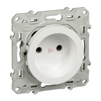 Odace, prise de courant 2P Blanc, à vis, connexion rapide sans terre S520033 SCHN-S520033-1 de Schneider Electric